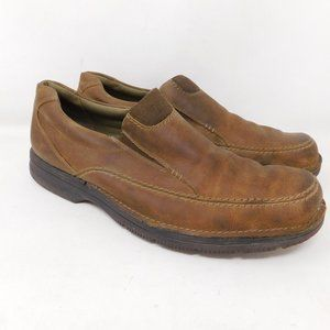 Clarks Leather Slip On Loafers Shoes 13 Tan